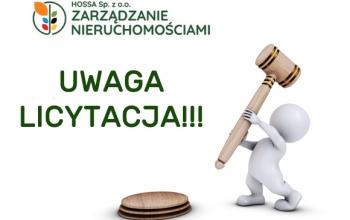 Obwieszczenie o licytacji nieruchomości przy ul. Rymera